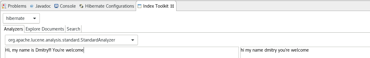 Analyzers Toolkit tab